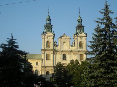 En kyrka i Lviv.