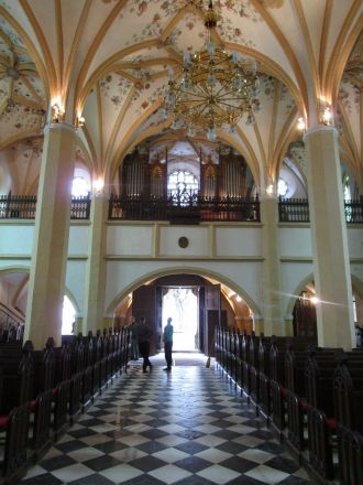 I Sankt Petri-kyrkan.