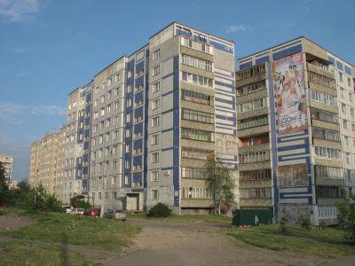 Slitna höghus i utkanten av Vladimir.