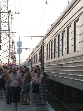 Varm högsommarkväll på Transsibiriska.