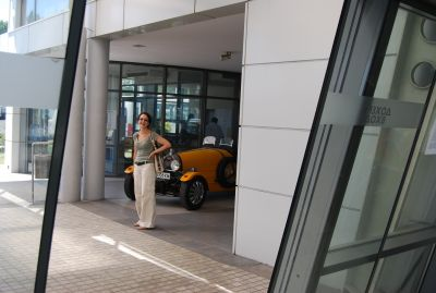 Ginka på busstationen i Plovdiv.