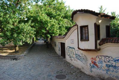 Klotter är tyvärr ingen ovanlig syn i Plovdiv.