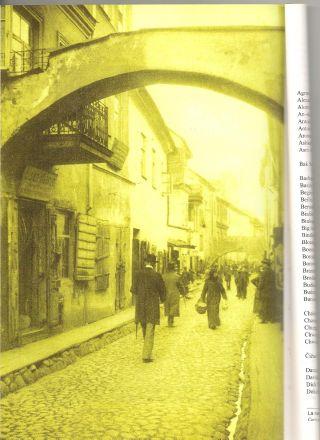 Jatkowa-gatan (numera M. Antokolskio-gatan) i de gamla judiska kvarteren (ur: Vilnius. Sites de la Mémoire Juive).