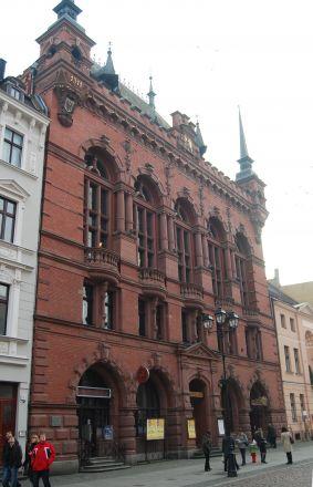 Köpmännens hus – Arthurshof. Här ägde olika tillställningar rum.
