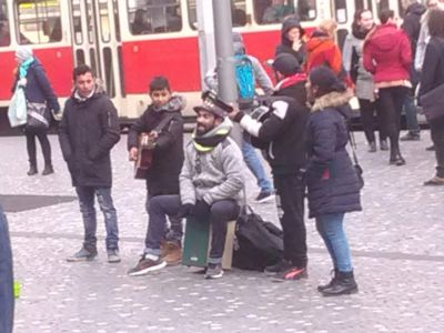 Romsk musik i Prag.