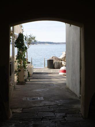 Havet, strax utanför mitt pensionat.