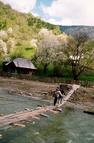 Vandring i landskapet kring Vişeu de Sus.