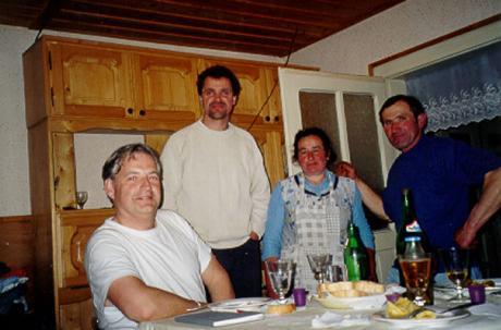 Middag i gästhuset hos Maria och Gavril.