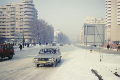 Bukarest i vinterskrud.